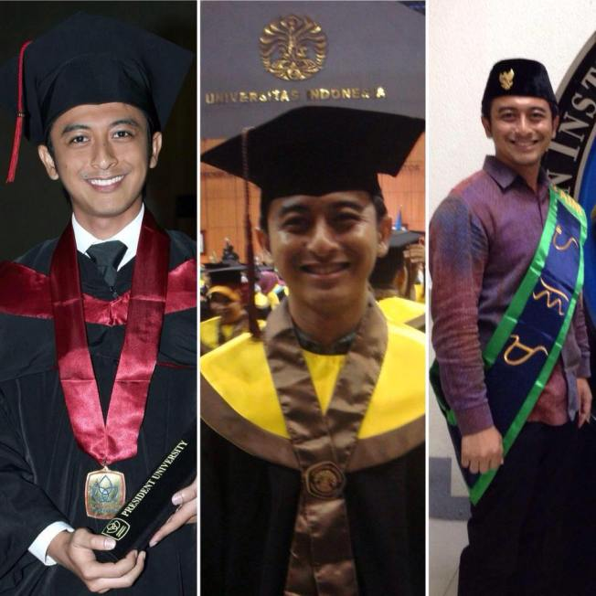 Reiza on his three graduation ceremonies